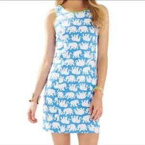 Lilly Pulitzer Blue Tusk in Sun Cathy Shift Dress